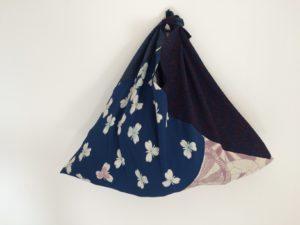 Sac triangle 3 kimonos - deux soies