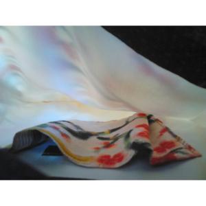 Détails sac soie et tissé