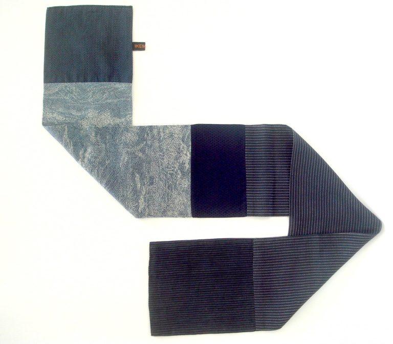 Echarpe-5-Kimonos-japonais-anciens-Upcycling-Objet-unique